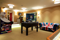 Princeton home's basement game room.